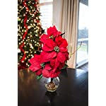 Nearly-Natural-1263-Poinsettia-with-Fluted-Vase-Silk-Flower-Arrangement-Red