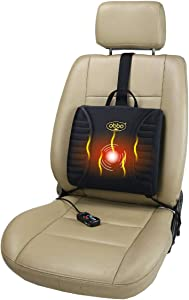 ObboMed SU-3400C Patented 4-Claw Ultra-Tight Fit Plug, Auto Off Heater and Massager, 12V Heated Massaged Cushion for Long Drive, Easy Positioning by Counterweight Balancer for Car Auto Vehicle