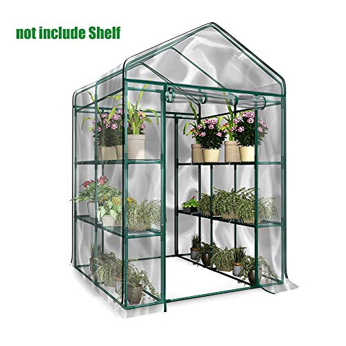 Millster Greenhouse Small Greenhouse Green House Polytunnel-PVC Corrosion-resistant Plants Warmhouse Garden- Tier…