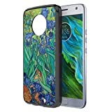 Moto X4 Case, Capsule-Case Hybrid Slim Hard Back Shield Case with Fused TPU Edge Bumper (Black) for Motorola Moto X4 (Moto X 4th Generation) - (Irises)