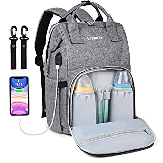Diaper Bag Backpack,Multifunction Travel Maternity Baby Nappy Changing Bags with USB Charging Port (Plaid Style red)