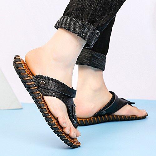 Flip Zapatillas Juventud Wild Hombres YXLONG Summer Flop Hombres Toe Clip Casuales New Sandalias Sandalias para yellow Zapatos Tide q7nqUS