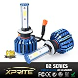 Xprite B2 Series CREE COB LED Headlight Conversion Kit with 6000K White, 8000K Blue Sleeves - 60W 5000lm - 880 881
