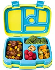 Bentgo Kids Brights - Leak-Proof, 5-Compartment Bento-Style Kids Lunch Box - Ideal Portion Sizes for Ages 3 to 7 - BPA-Free and Food-Safe Materials (Citrus Yellow)