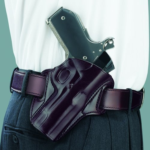 Galco Gunleather Concealable Belt Holster for 1911 4-Inch, 4 1/4-Inch Colt, Kimber, Para, Springfield, Smith (Havana, Right-hand)