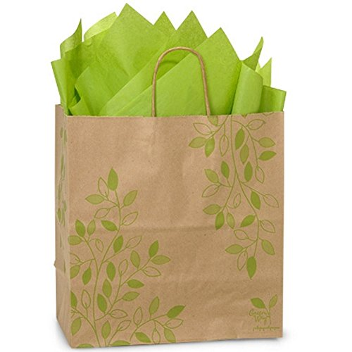 Ivy Lane Paper Shopping Bags - Filly Size - 13 x 7 x 13in. by NW