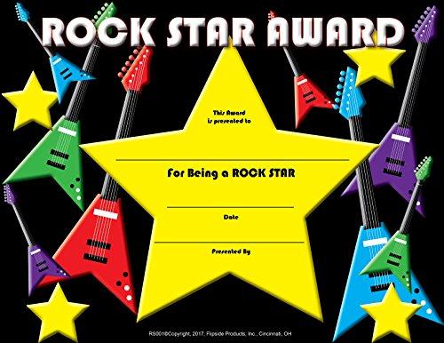 - Rock Star Award - Matte Paper - Quantity 150