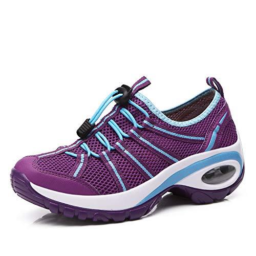 Zapatos para Zapatos Libre Mujer Air Aire de Ropa Nuevos Casual Net Cushion Shoes al Malla para Caminar Transpirable Hasag Mujeres zRw5Tqaq