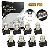 Partsam 8 PCS T10 Wedge 5-SMD 5050 White LED