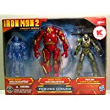 Iron Man 2 Movie Exclusive Concept Series 4 Inch Action Figure 3Pack Proving Ground Holographic Mark