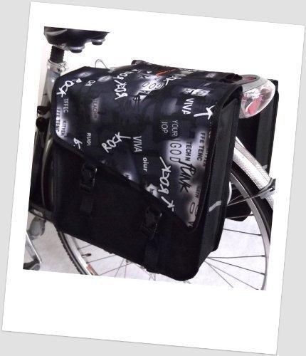 TJ-S-47 Fahrradtasche JENNY STYLE ROCK White Satteltasche Gepäckträgertasche 2 x 14 Liter