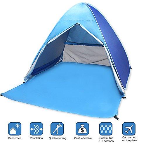 Tente de plage Anti UV, VicPow Pop-up Tente Pliable et Portabletente,abri soleil, tente de camping pour 2-3 personnes