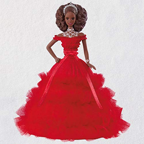Hallmark Keepsake Christmas Ornament 2018 Year Dated, African American Holiday Barbie Doll Ornament