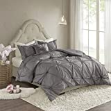 Madison Park Leila 4 Piece Comforter Set Dark Gray Full/Queen