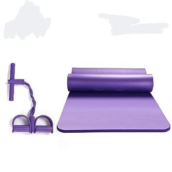 UKIYES Colchoneta de Alta Densidad Yoga,Espesado Fitness Mat ...