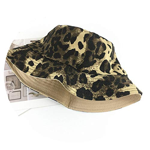 Cotton Leopard Print Bucket Hat Fisherman Hat Outdoor Travel hat Sun Cap Hats for Men and Women 197,1