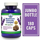 Mushroom Immunity – 180 Caps With Maitake, Shitake, Reishi, Astragalus, Dandelion & Beta Glucan – Intense Immune Support