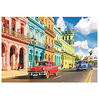500 Pieces Jigsaw Puzzles for Adults, 18×11 Inch Mini Puzzles, Landscape Difficult Puzzle Art for Men and Women (Colorful Street)