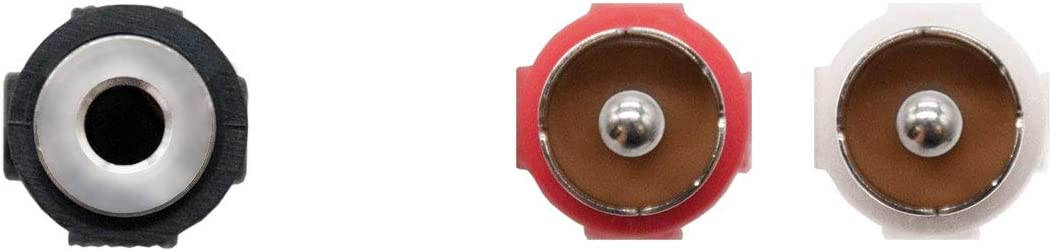 Cavo audio stereo Jack-to-RCA nero 3,5//H-2xRCA//M maschio-femmina NanoCable 10.24.1301 1,5mts