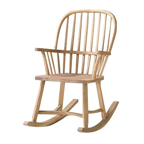Rocking chair Silla Mecedora de Madera Vintage, reposabrazos ...