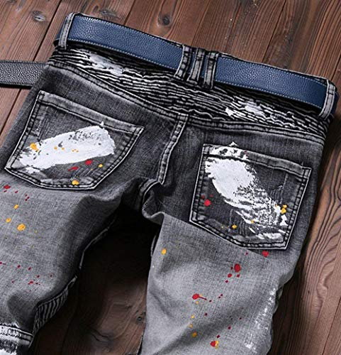Estilo Pantaloni Stretch Jeans Uomo Gamba Lichtblau Strappati Bobo Slim 88 Denim Dritta Especial Hipped Da Cher O7xYwfA