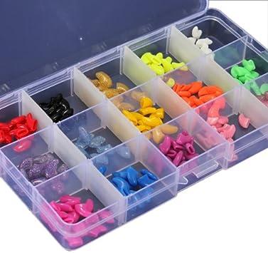 Wadoy  Bo/îte /à outils compacte en plastique 15 compartiments r/églables