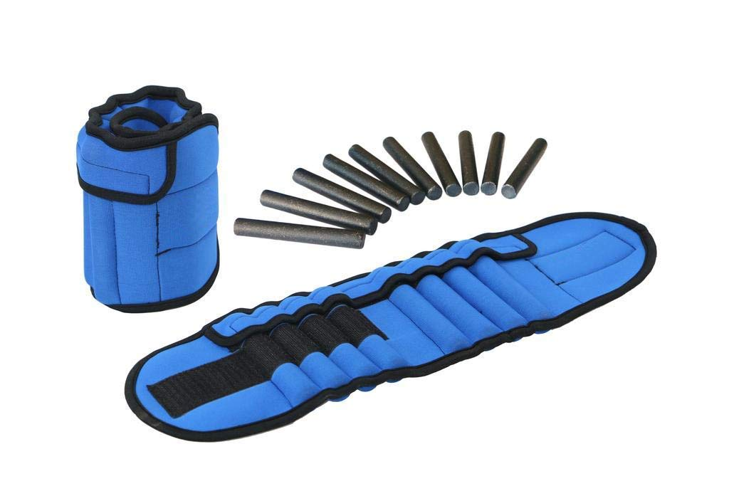 Vandora Pair of Adjustable Ankle Weights Can Be Adjusted Up to 5.5 LB Each Set of 2 x Weight Wraps (Total 11-LB)