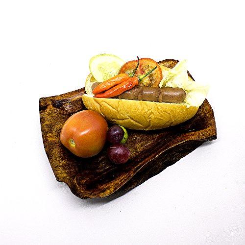 Indonesia Natural Teak Wood Irregular Dinner Bowl Plate Serving Plates Kitchenware Tableware Handmade (Irregular Plate, 8 (Teak Dinner)