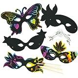 Lot de 10 Masques à gratter - Idéal pour la période Carnaval