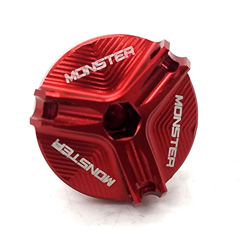 Red Engraved Engine Magnetic Oil Drain Plug Bolt For Ducati Monster 696 2008-2013 MONSTER 796 2011-2013 MONSTER 821 2014-2016 MONSTER 1200 2014-2016 MONSTER 1200S 2014-2016 Monster 1100 EVO 2011-2013