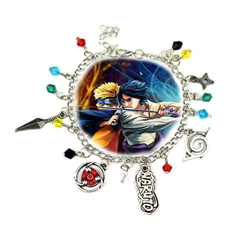 Naruto 5 Charms Lobster Clasp Bracelet in Gift Box by (Cyborg Superman Costume)