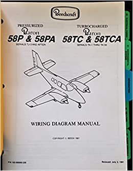 Beechcraft Baron Wiring Diagram Manual: Beech Aircraft ... on