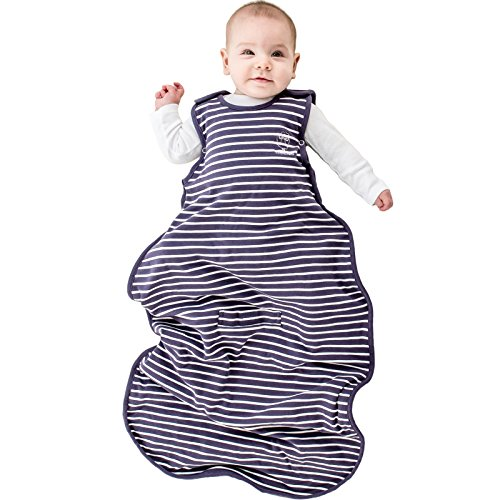 Woolino 4 Season Baby Sleeping Sack, Merino Wool Baby Sleep Bag, 2m-2yrs, Violet
