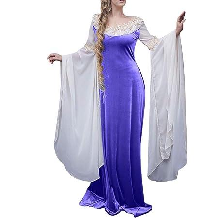 Amazon.com: Fauean - Vestido de palacio europeo para mujer ...