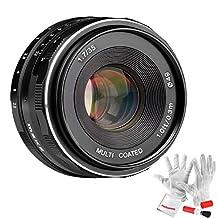 Meike 35mm F1.7 Manual Focus Large Aperture Prime Fixed Metal Lens for Fujifilm APS-C Mirrorless Cameras - Black