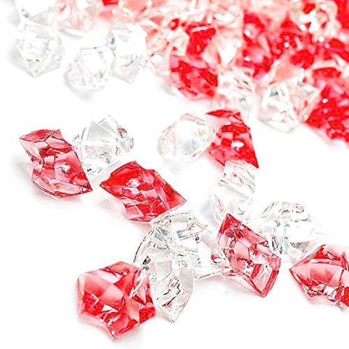 red acrylic crystals - 8