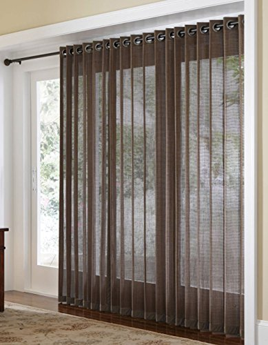 Naple Bamboo Grommet Top Panels for Sliding Glass Doors and Large Windows (Panels Bamboo Window)