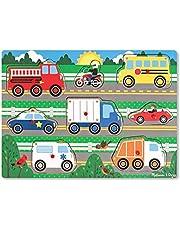 Melissa & Doug Knopp-pussel i trä - fordon , Pussel , Trä , 2+ , Present till pojke eller flicka