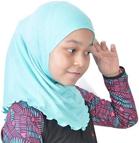 Details about  /Arab Kid Girl Flower Hijab Muslim One Piece Amira Islamic Head Cover 2-6Y Scarf