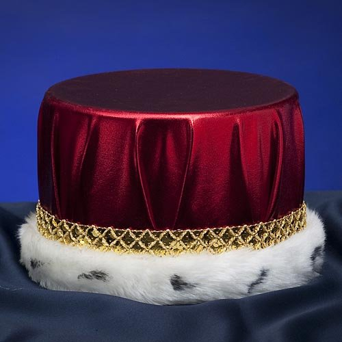 Metallic Red with Gold Trim King's Crown Prom King
