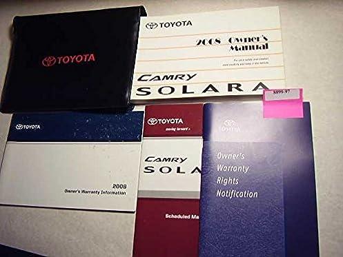 2008 toyota solara owners manual toyota amazon com books rh amazon com 2001 toyota solara owners manual toyota solara service manual