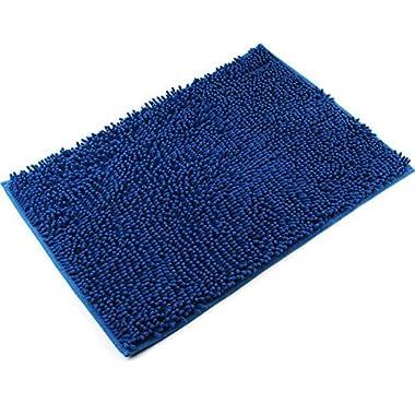 Vdomus Non-slip Microfiber Shag Bathroom Mat (Blue)
