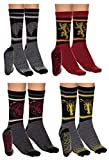 Game of Thrones Unisex 4 Pack Jacquard Knit Crew Socks Gift Set (Game of Thrones)