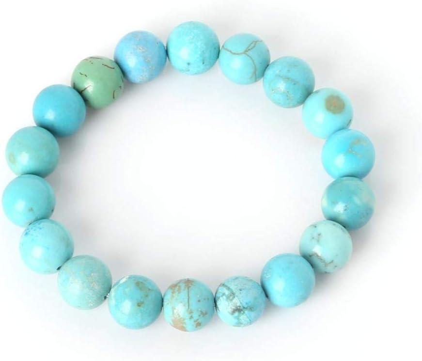 XIANNU Pulseras para Mujer,Charm Bracelet con Piedra Natural Beads Abalorios Pulsera para Hombre Mujer Joyas Mejor Amigo Don Azul