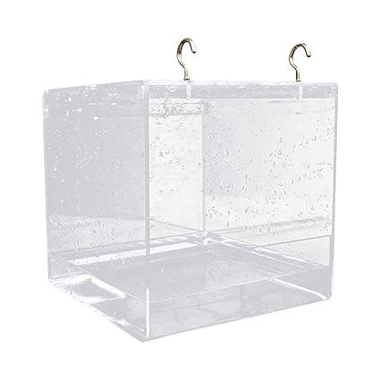 KEBY - Bañera para pájaros para jaula, caja de baño para loro para ...