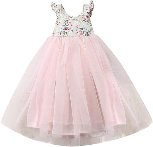 Dsood Children Dress,2019 Kids Fashion Dress Girl Sleeveless Fancy Wedding  Bridesmaid Formal Dresses