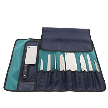 Heavy Duty 12 Slots Chef Knife Roll Bag, estuche de ...