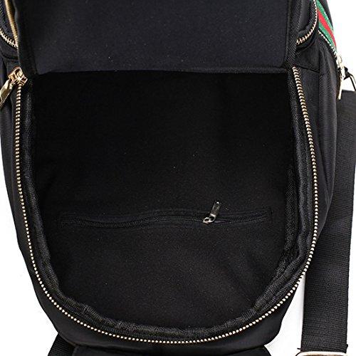Keshi Leinwand Niedlich Damen accessories hohe Qualität Einfache Tasche Schultertasche Freizeitrucksack Tasche Rucksäcke Schwarz 1