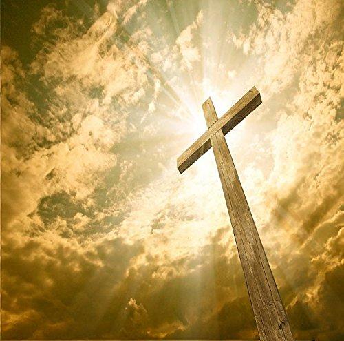 5x7ft Vinyl Digital Christian Jesus Prayer Cross Photography Studio Backdrop -