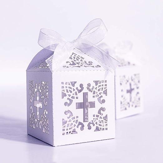 Amazon.com: YOZATIA 50 cajas de regalo cortadas con láser ...